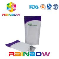 Quality Glossy Stand Up Supplements Packaging Aluminum Foil Pouch Zip Lock Powder Bag wholesale
