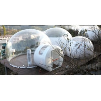 Quality PVC Tarpaulin Dome Clear Inflatable Bubble Tent With Bathroom wholesale