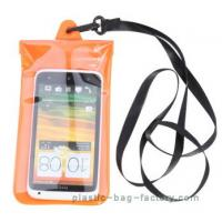 Soft PVC underwater waterproof pouches , plastic waterproof phone pouch