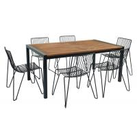 Quality SGS 6 Metal Chairs Outdoor Garden Furniture wholesale