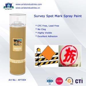 China High Visibility Marking Spray Paint No Clog Survey Spot Aerosol Survey Marking Paint 500ml on sale