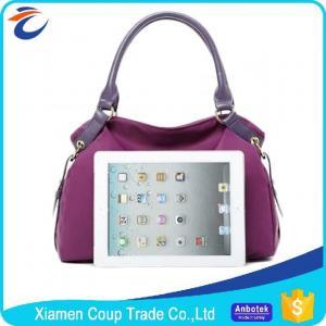Quality Elegant Purple Womens Tote Bags / Shoulder Messenger Bag Customized Logo wholesale