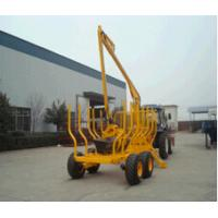 Quality Log trailer with crane/ Forestry wood timber loading trailers with grapple and crane wholesale