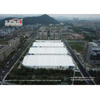 China 40 Wide Aluminum Frame Exhibition Tent With White PVC Roof Cover For Sale on sale