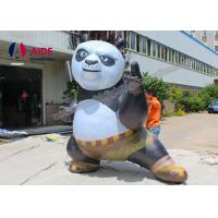 Quality Customized Inflatable Cartoon Characters Big Inflating Kung Fu Panda Model wholesale