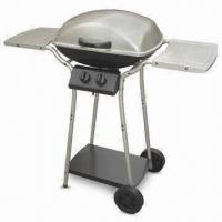 Quality Stainless Steel Four-burner Gas Barbecue Grill with Wheel and Cast Iron Heating Stove wholesale