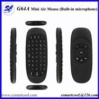 China G64A 2.4GHz Wireless Remote Control Air Mouse Keyboard built-in Microphone for android PC on sale