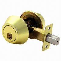 Quality Deadbolt/Door Lock, Key made of Iron and Brass wholesale