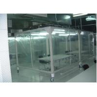 China Power Coated Steel Softwall Cleanroom Pharmaceutical , Vertical Laminar Air Flow Chamber on sale