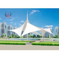 Buy cheap Rainproof Prefabricated Steel Tensile Shade Structures For Park Sunshading Wind Resistance product