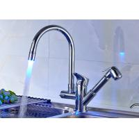 China ROVATE Chrome Finished LED Light Kitchen Faucet With Pull Out Bidet on sale