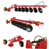 China 1LY(BX)-740 150HP tractor trailed hydraulic heavy duty 7 disc plough, working depth 250mm on sale