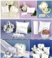Quality wedding accessories(ring pillow,flower basket,garter) wholesale