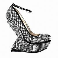 Quality Women's Dress Shoes with Microfiber Upper, Available in Various Colors, Diamond Shining Shoes wholesale