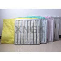 Quality High Efficiency Air Bag Filter Yellow Color , Carbon Filter Bags 3600CBM / H Flow Rate wholesale