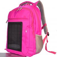 Quality Pink Womens Hiking Solar Charging Backpack With Charger Built In wholesale