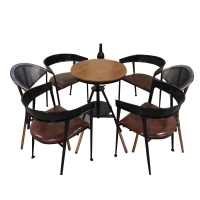 China H78cm Chair H75cm Table Bistro Table And Chairs Set Hand Weaving on sale