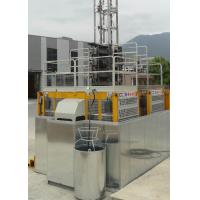 VFD Yellow Rack And Pinion Hoist Engine Power 2x15Kw For Construction Man / Materials