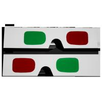 China Customized Plastic Circular Frame Resin Lens Anaglyphic Red + Green 3D Glasses for women on sale
