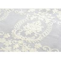 Quality Polyester Voile Curtain Fabric Embroidery Contemporary Decoration wholesale