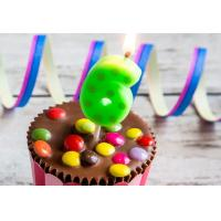 Quality Hand Painting 0-9 Number Candles For Birthday Cakes With Dots Design wholesale