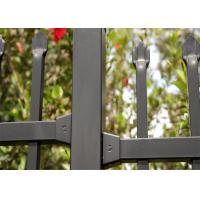 China Self -Clean Stain Black Powder Coated Garrison Security Fencing on sale