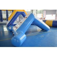 Quality 0.9mm Blue Color PVC Tarpaulin Swimming Pool Small Water Slide wholesale