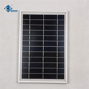 Quality 6V 6W Aluminum frame solar panel for solar panel battery charger ZW-6W-6V Glass Solar Panel wholesale