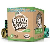 Quality COMPOSTABLE BPI CERTIFIED, fabric Dog Waste Poop bags Holder/ pet Poop Bag Dispenser with Carabiner Clip and waste bagS wholesale