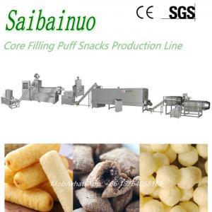 China Jinan Saibainuo Core Filling Puff Snacks Food Machine Production Line on sale