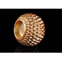 Quality Honeycomb Design Electroplating Effect Tealight Candle Holder Made By Ceramic wholesale