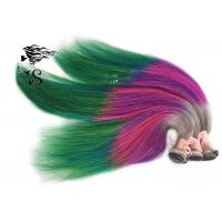 Quality Stunning Rainbow Turkey Colored Human Hair Extensions 100% Non Remy Human Hair wholesale