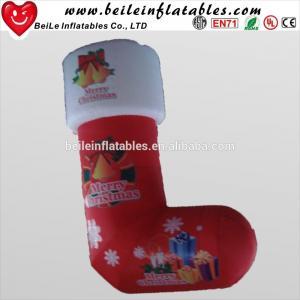 China Giant inflatable christmas socks and inflatable christmas gift decoration on sale