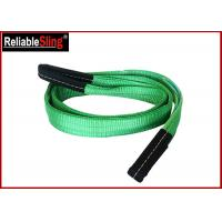Quality Green Ply Polyester Webbing Sling For Lifting Loads  , Eye And Eye Sling wholesale