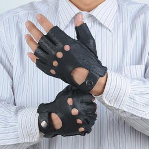 Quality Summer women sheepskin leather hand gloves half finger gloves wholesale
