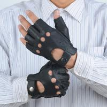 Buy cheap Summer women sheepskin leather hand gloves half finger gloves from wholesalers