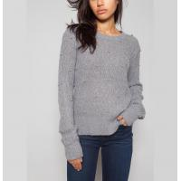 China Grey / Berry Women'S Cable Knit Pullover Sweaters With Bubble Sweater Water Soluble on sale
