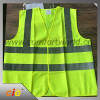 Quality 100% Polyester Geen Reflective Safety Vests with Tricot Fabric Design wholesale