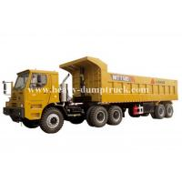 Quality Rated load 100 tons Off road Mining Dump Truck Tipper  309kW engine power drive multi axles with 50m3 body cargo Volume wholesale