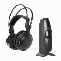 Quality UHF 2.4GHz Wireless Headphones with Transmitter, Built-in Battery and Speakers for European wholesale