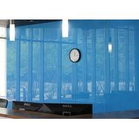 Cheap Architectural Decorative Light Blue Back Painted Glass For Frameless Door for sale