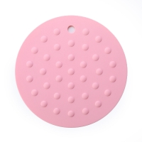 China Round Thick Silicone Heat Resistance Silicone Placemat Hot Pads on sale