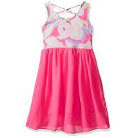 Quality Floral Top Little Girl Summer Dresses Size 7 Chiffon Criss Cross Back Dress wholesale