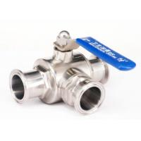Quality 2 Inch 3 Stainless Steel Ball Valve L Type With Clamp / Weld / Thread Connection wholesale