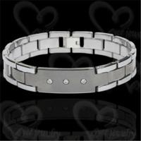 Buy cheap Fashion tungsten bracelet men's jewelry from wholesalers