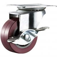 China PU Heavy Duty Furniture Chair Casters Light Weight Size Customized on sale