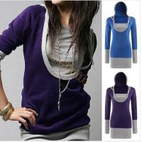 Quality Spring Women Female U Neck Pullover Sweatshirt Tops Outwear Free Shipping wholesale
