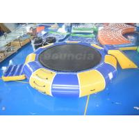 Quality 0.9mm PVC Tarpaulin Inflatable Water Trampoline Combo For Water Sports wholesale