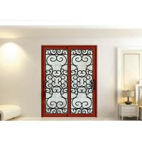 Quality Wrought Iron Security Doors Glass Agon Filled 22*64 inch Size Shaped Wrought Iron Exterior Doors wholesale