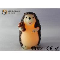 Quality Decorative Flameless Candles , Battery Operated Pillar Candles Hedgehog Shaped wholesale